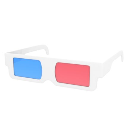 3d glasses cartoon model