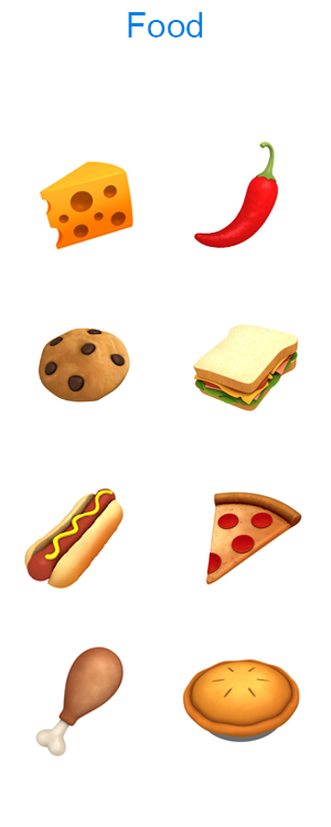 food emoji cartoon 3d